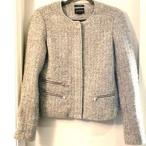 Club Monaco Grey Wool Lined Blazer